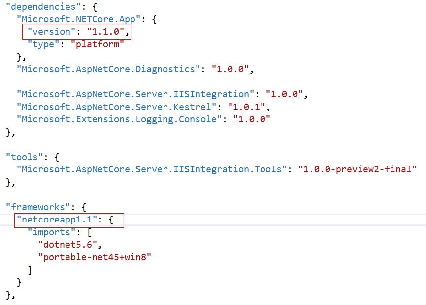 edit-asp-net-core-version-in-project-json