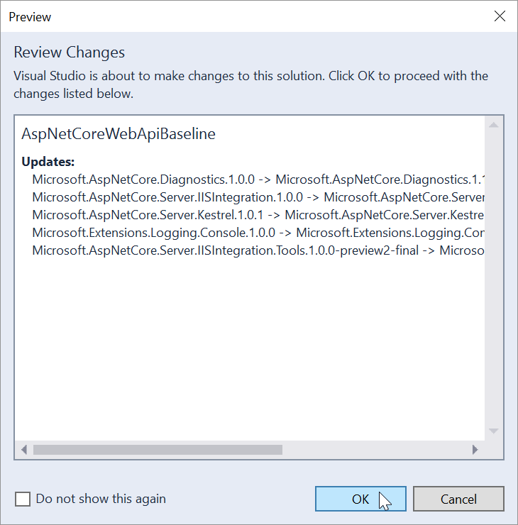 review-nuget-updates